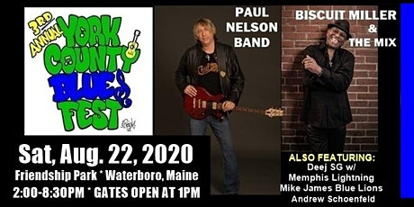 3rd Annual York County Blues Festival in Waterboro Maine tickets