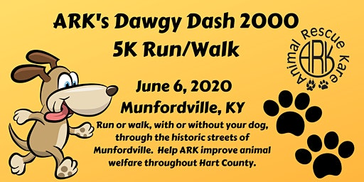 "ARK's  ""Dawgy Dash 2020"" 5K Run"