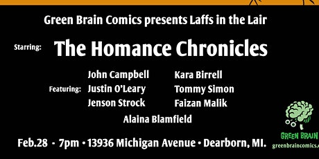 Laffs in the Lair Presents The Homance Chronicles tickets