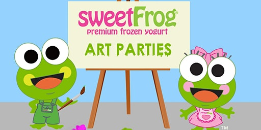February's Finger-Paint party at sweetFrog Timonium