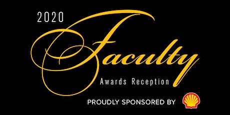 2020 Faculty Awards Reception RSVP Invitation to Campus Community tickets