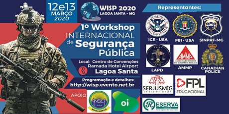WISP 2020 - Workshop Internacional de Segurança Pública - Lagoa Santa/MG ingressos