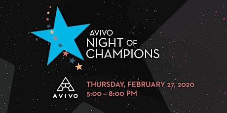 Avivo Night of Champions tickets