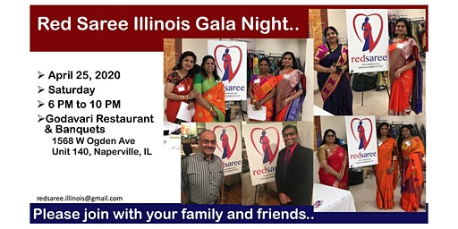 Red Saree Gala Night @ Naperville, IL