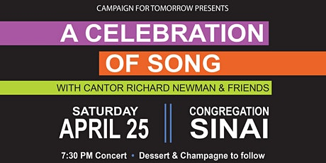 A Celebration of Song - Featuring Cantor Richard Newman and Friends tickets