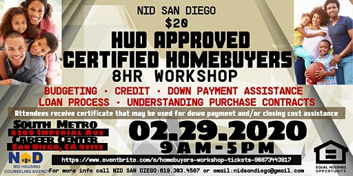 CERTIFIED HOMEBUYER 8HR  WORKSHOP