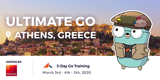 3-Day Ultimate Go Training: (Athens - Greece - March 3-4-5, 2020)