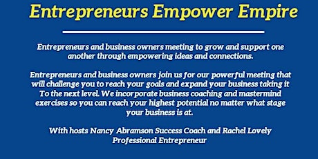 """Entrepreneurs Empower Empire """" OWN Your P.O.W.E.R. with Diazina Mobley tickets"""