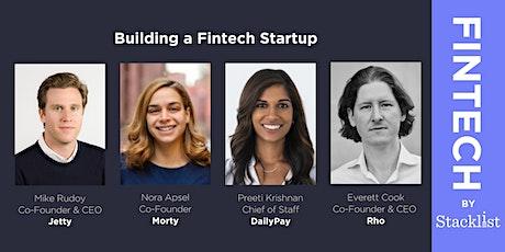 Building a Fintech Startup tickets