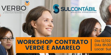 Workshop Contrato de Trabalho Verde e Amarelo ingressos