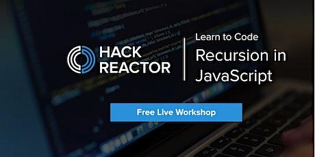 Recursion in JavaScript tickets