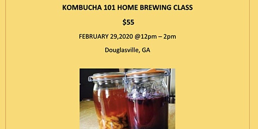 Kombucha Home Brewing Class