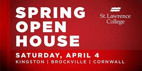 St. Lawrence College Kingston Spring Open House 2020 tickets