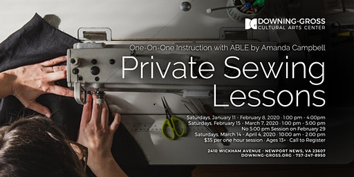 Private Sewing Lessons with ABLE by Amanda Campbell