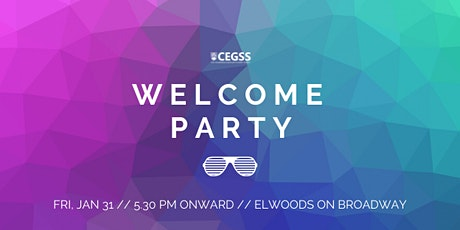 CEGSS Welcome Party 2020 tickets