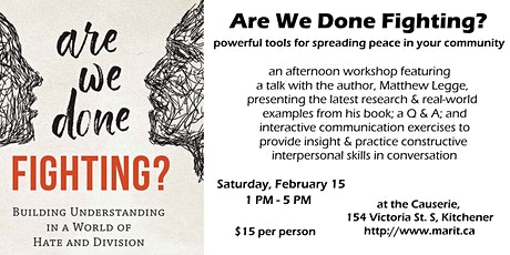 Are We Done Fighting? An Afternoon Workshop tickets