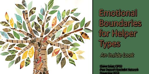 Emotional Boundaries for Helper Types LEWISTON