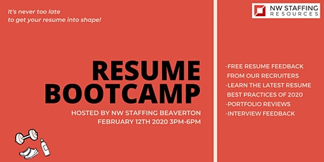 Resume Bootcamp with NW Staffing Resources tickets