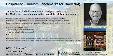 Marketing Benchmarks for Hospitality & Tourism tickets
