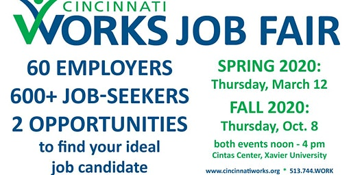Cincinnati Works 2020 Job Fairs