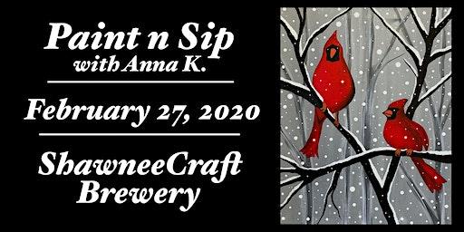 Paint n Sip- Cardinals @ ShawneeCraft