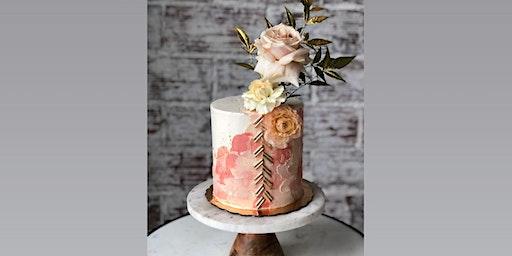 Textured Buttercream with Fresh Flowers Cake Class!