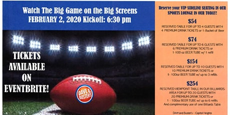 095 Dave & Buster's Capitol Heights - Big Game Watch Party  Sunday 02/02 tickets