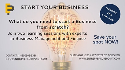 Start Your Business tickets