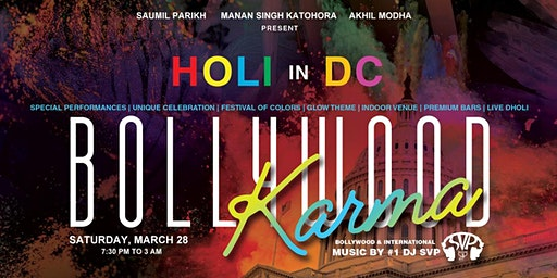 Bollywood Karma - HOLI in DC (Biggest Indoor Holi