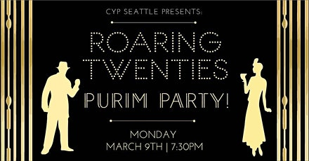 CYP  Seattle Roaring 20's Purim Party! tickets