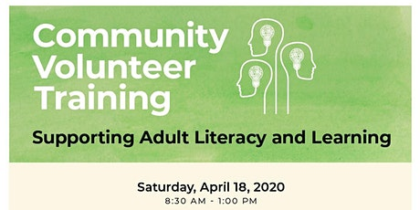Cancelled: Community Volunteer Training - April 18, 2020 tickets