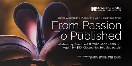 From Passion To Published - Book Writing and Publishing Class tickets