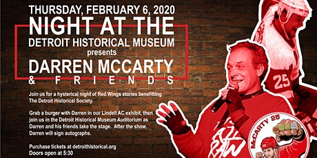 Night @ the DHM Presents: Darren McCarty and Friends tickets