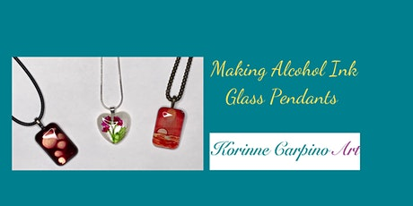 Alcohol Ink Painted Glass Pendants tickets