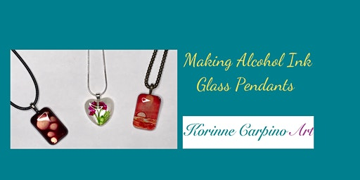 Alcohol Ink Painted Glass Pendants