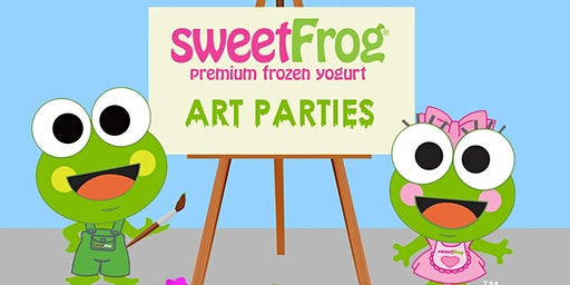 February's Finger-Paint Party at sweetFrog Victorville