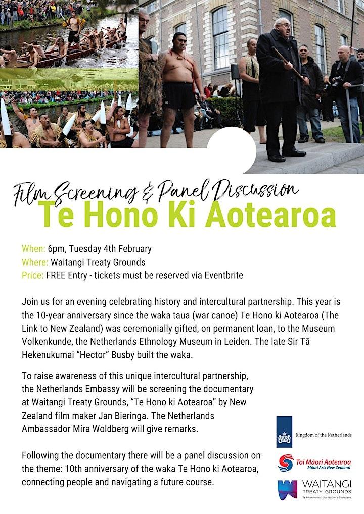 Te Hono Ki Aotearoa Film Screening image