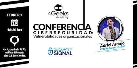 Conferencia: Ciberseguridad  entradas