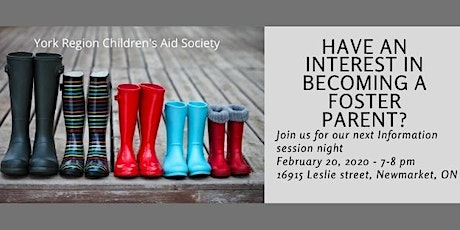 Interested in becoming a Foster Parent? tickets