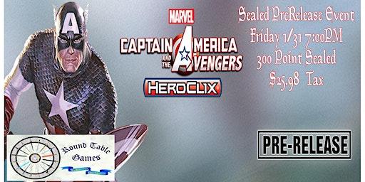 Marvel HeroClix: Captain America Pre-Release Sealed 300 pt.Tournament