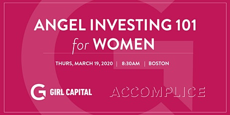 Angel Investing 101 for Women tickets