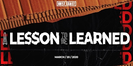 A Lesson To Be Learned tickets