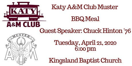 Katy A&M Club Aggie Muster 2020 tickets