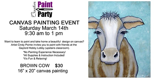 Brown Cow--Saturday, March 14th  9:30 am