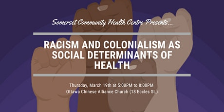 Racism and Colonialism as Social Determinants of Health tickets