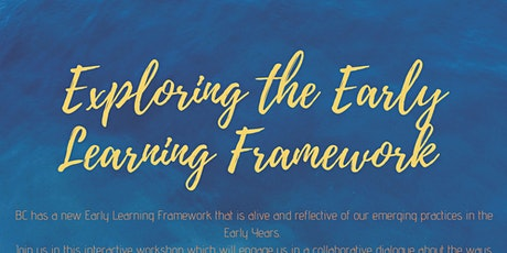 Central Okanagan Early Learning Framework Institute  tickets