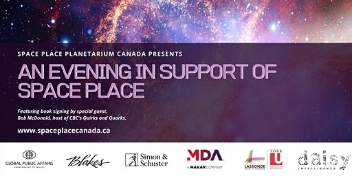 An Evening with Quirk's & Quarks Host Bob McDonald & Space Place Canada