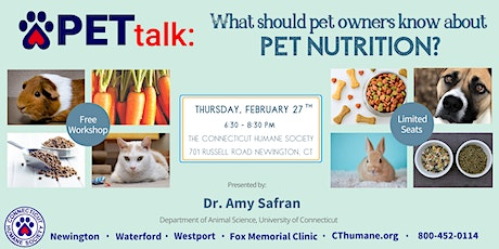 PETtalk: What should pet owners know about pet nutrition? tickets
