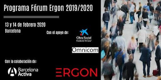 Programa Fórum Ergon 2019/2020 impulsado por Fundación Ergon