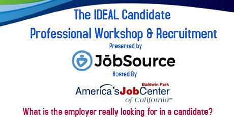 Job Source Staffing Ideal Candidate Recruitment tickets
